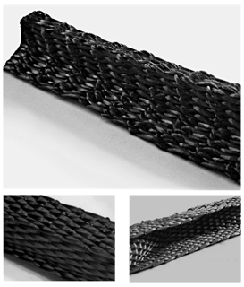Selection of various profiled 3D woven reinforcements from Biteam